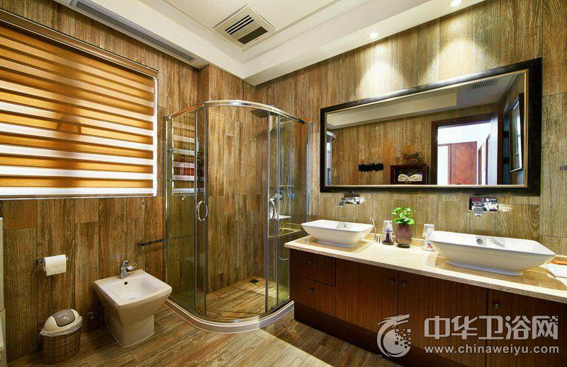 个性卫生间装修效果图 干湿分离淋浴间装修效果图