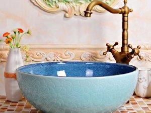 美观大方艺术品质 陶瓷洗脸盆装修图片