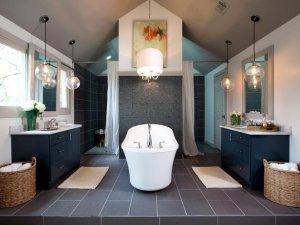 简约风格卫生间装修图片展示 主打白色卫浴洁具
