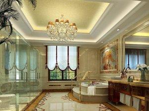 欧式风格卫生间装修图片欣赏 明亮浴室辉煌装修