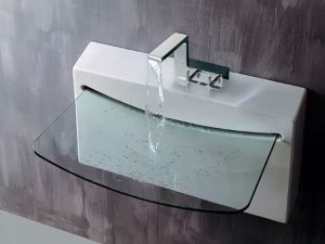 创意玻璃面盆设计 透明纯净