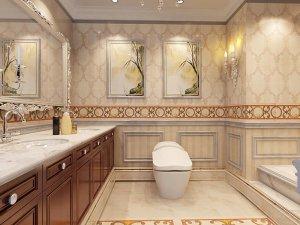 欧式卫浴装修效果图 仿古风味点缀欧式韵味