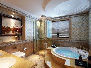 欧式风格卫浴装修效果图 展现瓷砖的拼接艺术