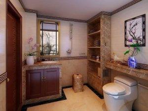 风格卫浴间效果图 中式风格