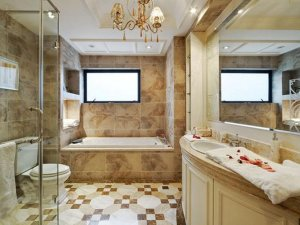 时尚古典大户型卫浴间装修效果图