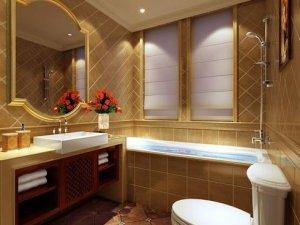中式风格卫浴间装修效果图