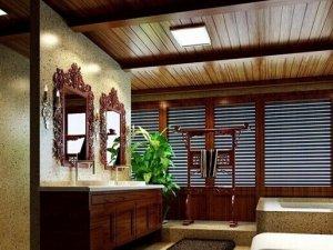 中式风格卫生间装修图片