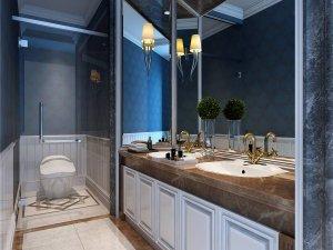 大气时尚的别墅卫生间装修效果图