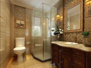 美式风格别墅卫生间