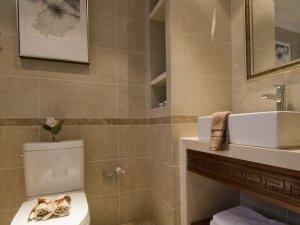 中式卫生间浴室柜效果图片