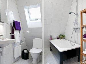 北欧风格公寓简洁白色卫生间洗手台图片