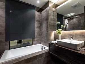简约风格卫浴间装修效果图 黑白经典搭配精致生活