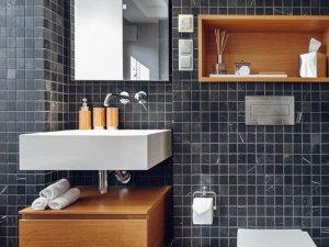 超有层次感的现代风格卫生间装修效果图片