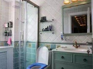 美式乡村风格卫生间装修效果图片