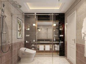 卫生间干湿分离装修设计图