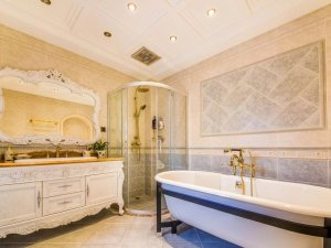 古典欧式装修风格别墅卫生间设计效果图