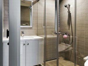 3平米时尚现代迷你小户型卫生间淋浴房设计装修图