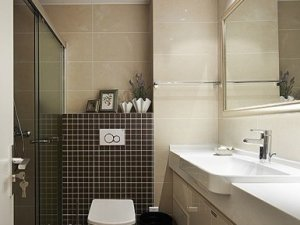 时尚现代公寓主卧卫生间淋浴房装修效果图