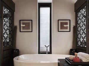 混搭风格卫生间浴缸布局效果图