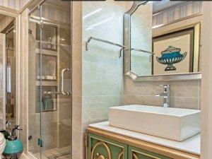 北欧风格卫生间面盆柜图片 陶瓷面盆图片