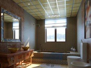 中式复古风格卫生间装修图片 中式卫生间面盆图片