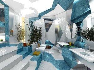 地中海风格卫生间设计效果图  卫生间洗手台装修效果图