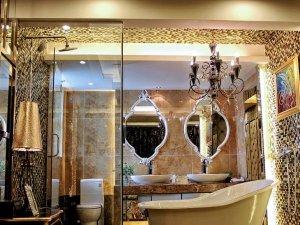 奢华欧式风格卫生间设计装修效果图 金碧辉煌
