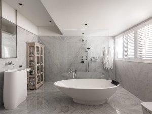 欧式风格卫生间装修效果图 卫生间背景墙装修效果图
