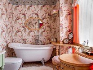 粉色卫生间效果图 粉色卫生间背景墙装饰效果图