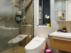 时尚简约整体卫生间装修图片 卫生间小尺寸马桶图片