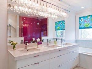 田园别墅卫生间新款浴室柜图片 2017浴室柜图片大全