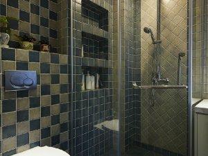 休闲宁静卫生间淋浴房设计装修图  卫生间淋浴房效果图