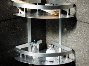 简约现代卫生间浴室置物架图片 卫浴五金挂件安装图片