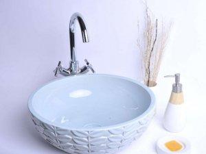 宜家舒适卫生间装修设计图 卫生间陶瓷面盆图片