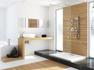 现代整洁家装卫生间装修设计图 卫生间玻璃淋浴房图片