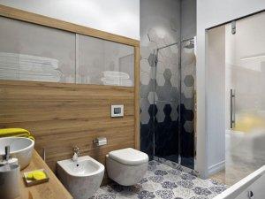 现代风格精装卫生间效果图   时尚面盆效果图