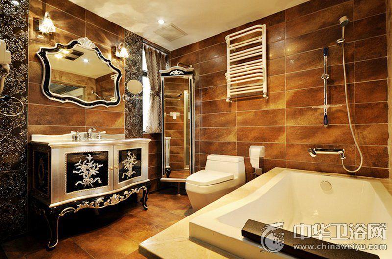 轻奢风格卫生间装修效果图   家装浴缸图片