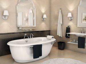 欧式风格卫生间设计效果图   浴缸装修效果图