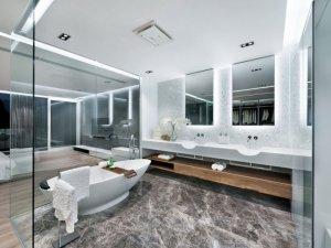 大户型主卧简约风格卫生间装修效果图   洗漱台装修效果图