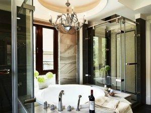 欧式风格卫生间浴缸装修效果图
