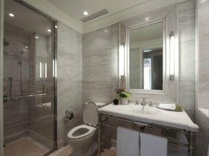 灰色系卫生间装修效果图 独立浴室装修效果图