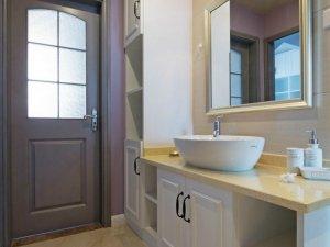 简约风格卫生间定制浴室柜效果图 洗面盆图片