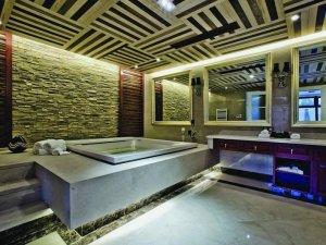 现代风格大户型卫生间装修效果图 卫生间吊顶图片