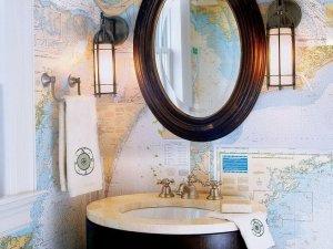 复古风格卫生间单人洗漱台装修效果图