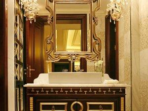 美式新古典风格卫浴效果图  卫浴浴室柜装修效果图