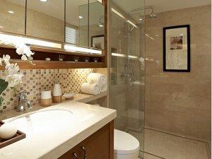 简约小卫生间装修效果图 浴室柜装修图片