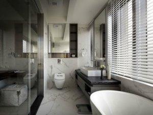 简约设计卫生间家装效果图 卫生间智能马桶图片