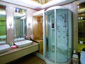 法式浪漫卫生间装修效果图 汗蒸房装修效果图