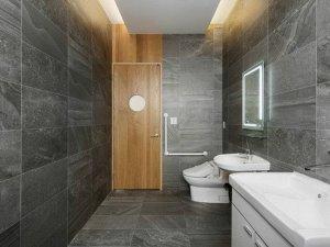 日式风格灰色卫生间装修效果图 简洁舒适风