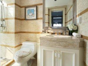 欧式简约浴室柜效果图 卫生间马桶图片